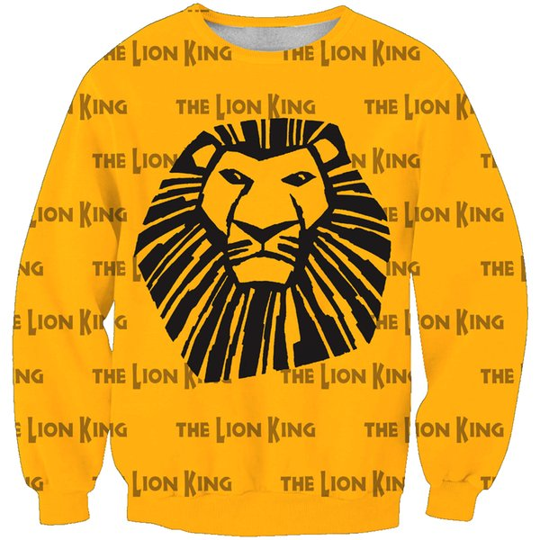 2019 Kids Sweatshirts Cartoon Hoodies Lion King Printed 3d Hoodies Baby Boy Cute Hooded Pullover Casual Pocket Outwear Novelty Coat 1 From Crutchline