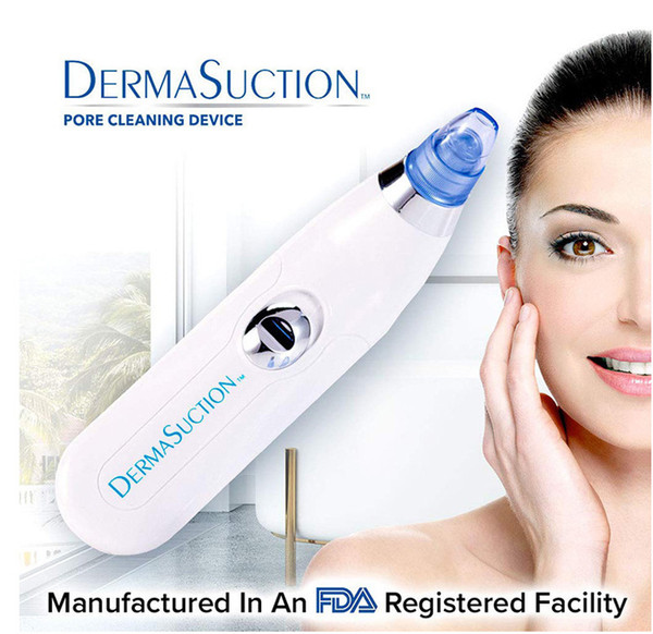 New derma uction remover facial pore cleaner electric pore vacuum extraction removal rechargeable kin peeling machine dhl