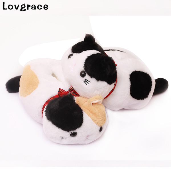 Lovgrace Free Shipping Cute Plush Cat Tissue Box High Quality Napkin Holder Paper Handkerchief Box Home Car Desktop Organizer