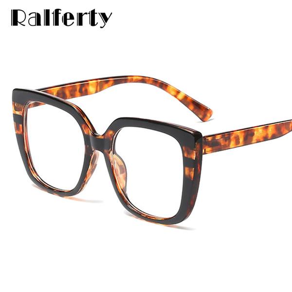 e787d243c6c9 Ralferty 2019 Retro Leopard Eyeglasses Frame Women Eye Glasses Spring  Temple Eyewear Frames For Optic Myopia Spectacles F95165