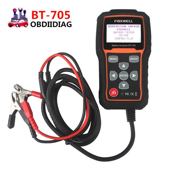 FOXWELL BT705 BT-705 Battery Analyzer Check Battery Health Detect Faults of Starting & Charging System