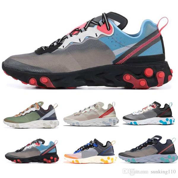 nike Epic React Element 87 2019 Epic react element 87 Undercover 55 chaussures de running pour hommes, femmes Royal Tint Anthracite Sail