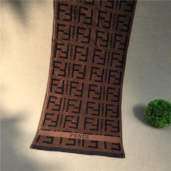Письмо печатные Роскошные банные полотенца мода F печать письма бренд полотенце пляжные полотенца лицо лицо купальное одеяло подарок 76 * 34 см FFA2488