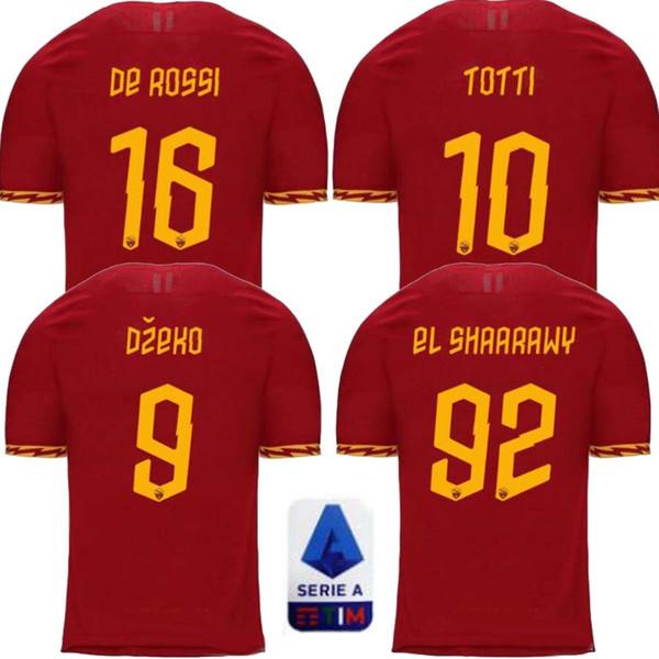 Thaïlande maillot de maillot de foot roma DZEKO PASTORE rome 2019 2020 TOTTI maillots 19 20 uniformes de maillot de football DE ROSSI absent Troisième kit