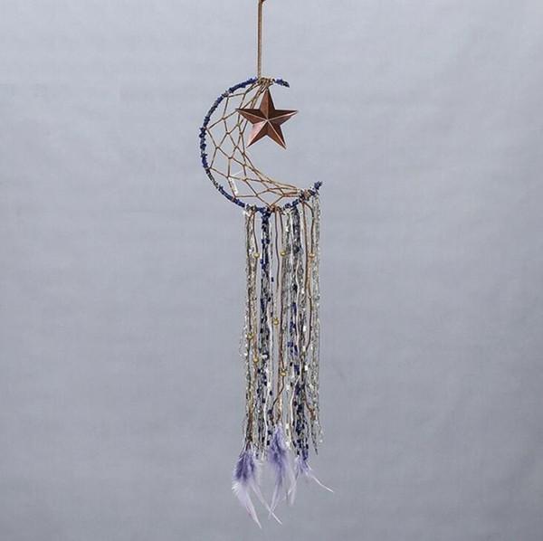 Piume a cinque punte della stella a cinque punte che appendono Dec Handmade Dream Catcher Home Hanging Bar Decorazione del partito