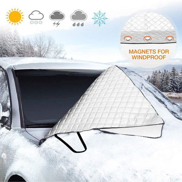 top popular Protection Foldable Ice General Winter Cover Removable Cover Solid Silver Thicken Car Windshield 2020