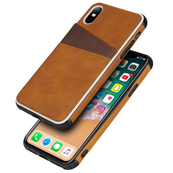 Custodia in pelle di lusso per iPhone XS MAX XR 8 7 Plus 6 6S Cover posteriore per iPhone