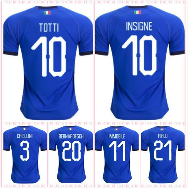 top 2019 italy soccer jerseys 2018 CHIELLINI INSIGNE italy football shirt INSIGNE Camiseta de futbol BERNARDESCHI TOTTI sccoer jersey