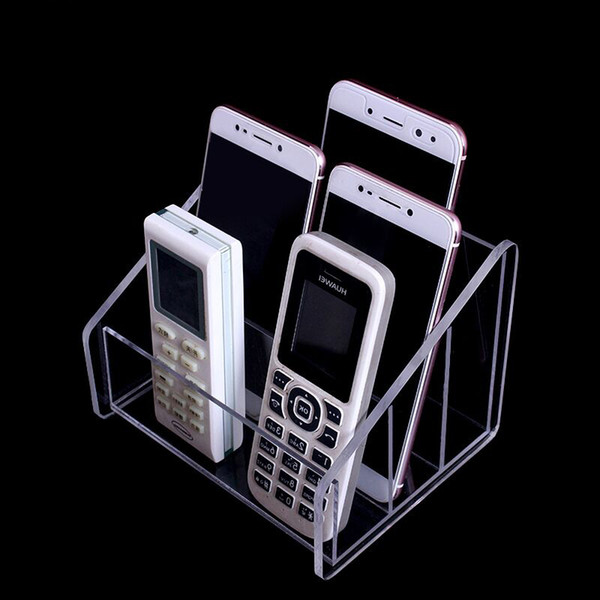 Acrylic Desktop Remote Control Holder Office Stand Remote Control Box Mask Display Stand Organizer