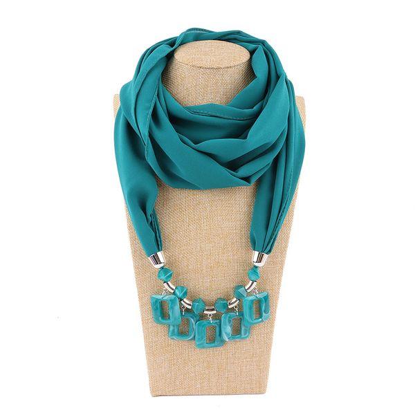 Multi-style decorative jewelry necklace resin beads pendant scarf female estrus female headscarf acrylic pendant scarf free shipping