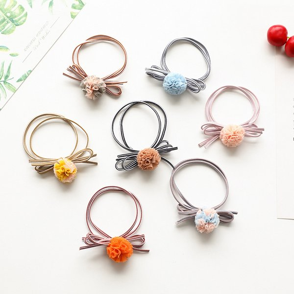 10 pieces Korean Simple Fashion Candy Color Rubber Ties Ring Elastic Hair Rope Ponytail Holder For Women Kids Hair Accessories