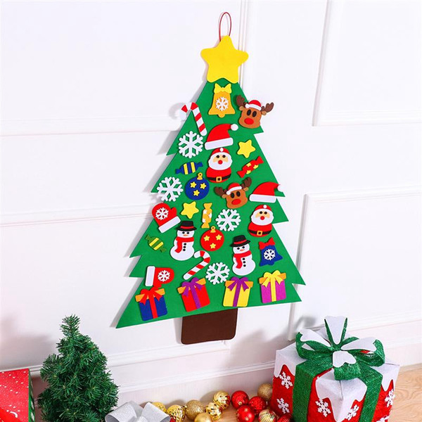 31pcs/ set diy christmas tree magic felt creative jigsaw puzzle toy for festival party christmas gift for children diy
