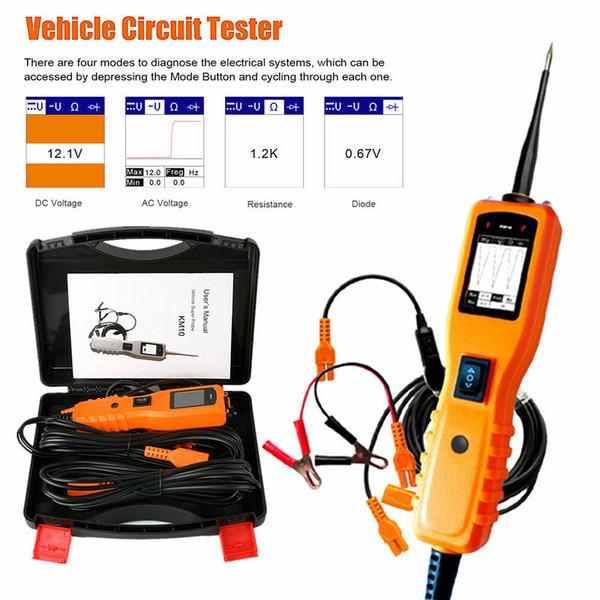 Outil de diagnostic de puissance de tension d'appareil de contrôle de circuit électrique de voiture de la sonde 12V 24V de KM10
