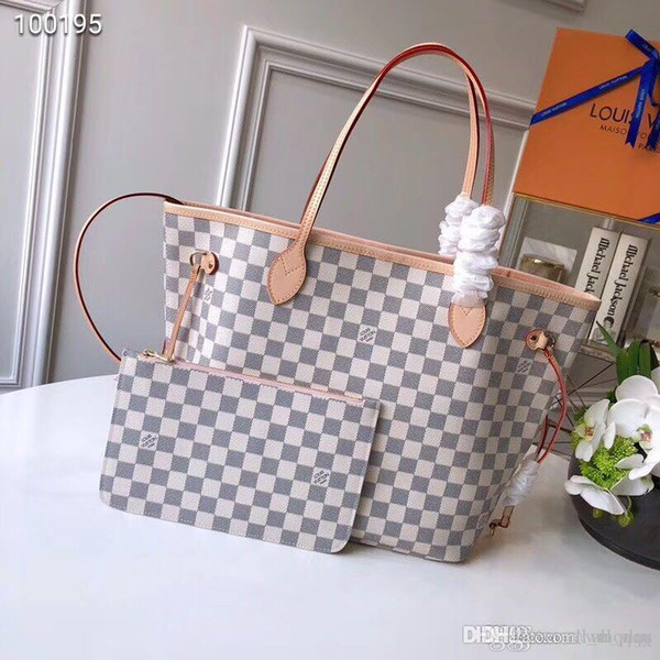 stable quality shopping wide range Luxury LOUISVUITTONBags Naverfull Genuine Cow Leather Top Quality Luxury  Tote Clutch Shoulder Shopping Bag Handbags For Sale Personalized Bags From  ...
