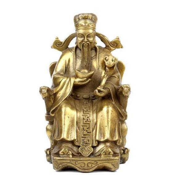 God of wealth with copper as the God of wealth Home Furnishing Feng Shui decoration