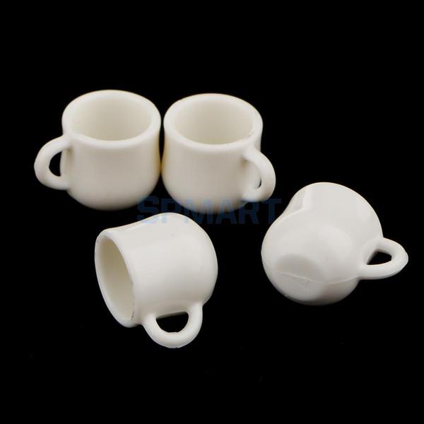 Doll Houses 4pcs 1:12 White Cups Mugs Dolls House Miniature Accessories house miniature