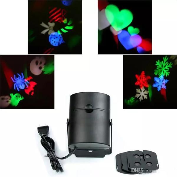 Multi-cor levou luz laser movendo Rgbw projetando LED luzes whit 4PCS Switchable padrão lente decoração do partido MMA1115