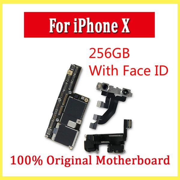 Scheda madre per iPhone X senza / con Face ID 64GB 256GB per iPhone X Scheda madre Sbloccata Scheda madre con chip completi