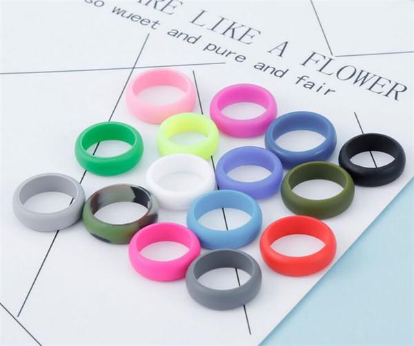 Anello in silicone colorato all'aperto Unisex flessibile in gomma anallergica O-ring in silicone Anelli sportivi da matrimonio R293