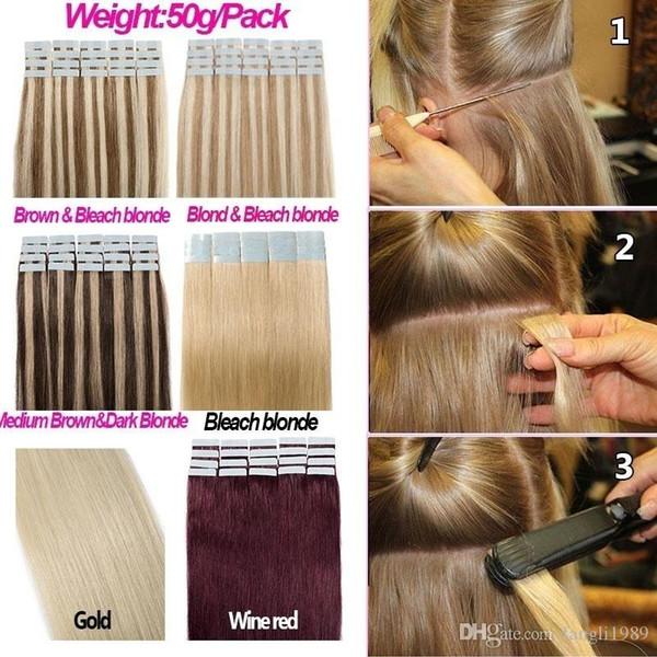 20 Stück 13colors blondes Band in Echthaarverlängerungen Hochwertiges Echthaar Kein Kunsthaar