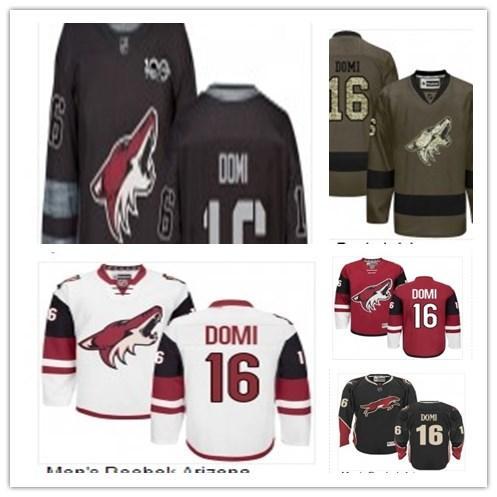 2019 Benutzerdefiniert Beliebiger Name Nummer Arizona Hockey Jersey Grün 16 Max Domi Jersey Männer / FRAUEN / JUGEND Coyote Game Abgenutztes Hockey Jersey-Shirt