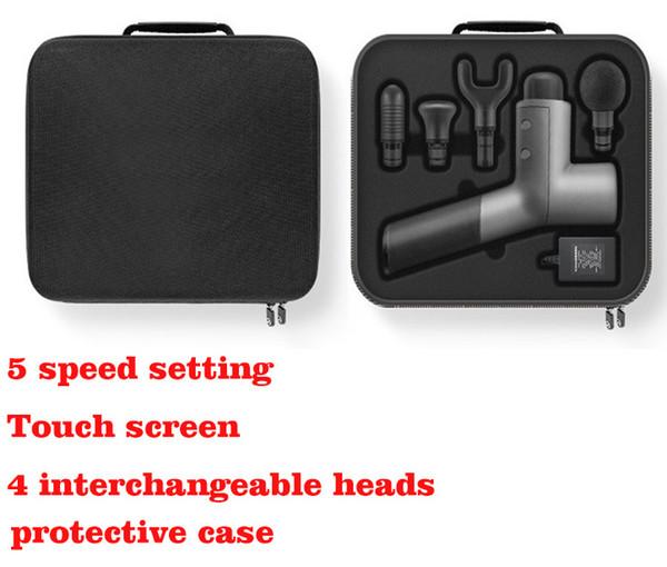 Massage Gun Muscle Massager tissus profonds de percussion portatif électrique de sport Massager Drill super silencieux moteur Brushless Télépho