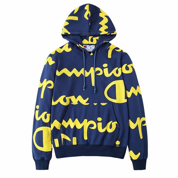 Marca 2019 Sudaderas con capucha para hombre Sudadera con estampado de letras Chándal Sudadera con capucha de manga larga Ropa de abrigo Sudadera con capucha para otoño Sudaderas con capucha de diseñador