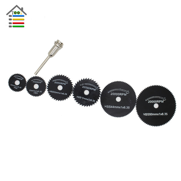 Abrasive Tools AUTOTOOLHOME HSS Circular Saw blades Set fit Wood Aluminum Cutting Disc for Dremel Rotary Tools Accessories Power tool mul...