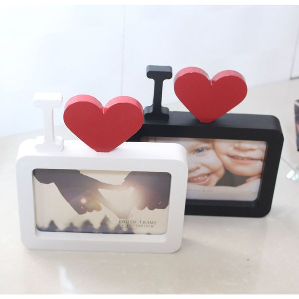 I Love You 6Inch Photo Frame Heart Shape With One Picture For New Baby And Sweet Lover Gifts Home decoration