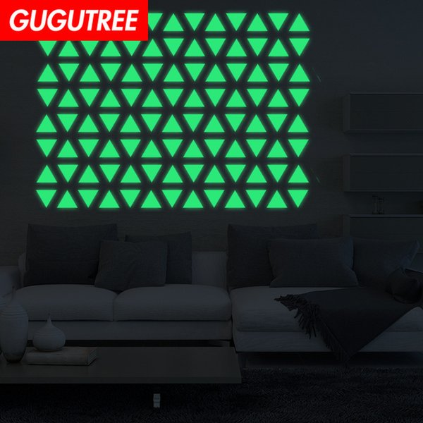 Decorate Home Diy geometry cartoon art glow wall sticker decoration Decals mural painting Removable Decor Wallpaper G-614