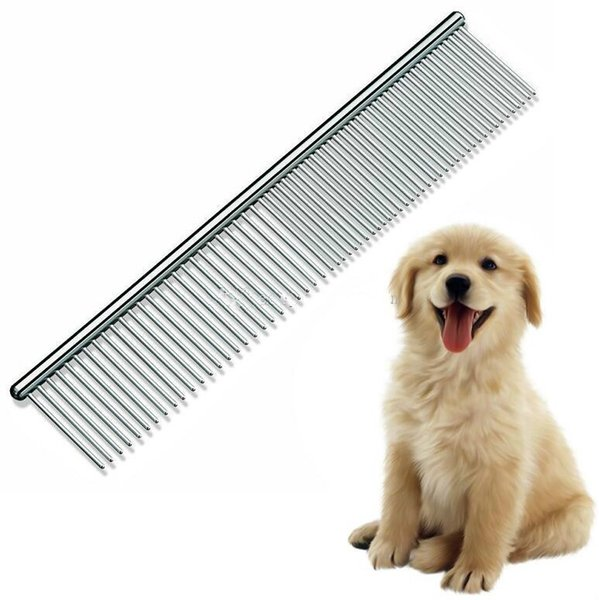 New Pet Dog Grooming Brush Comb Tools For Dog Clean Cheap Brushes Pin Cat Brush Stainless Steel Dogs Comb Metal Pet Product