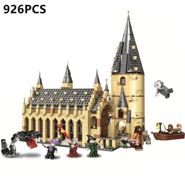 926PCS DIY Building Blocks Harri Magic Great Hall Potters castle Toys with figures for girls boys children Gifts bricks toy SH190915