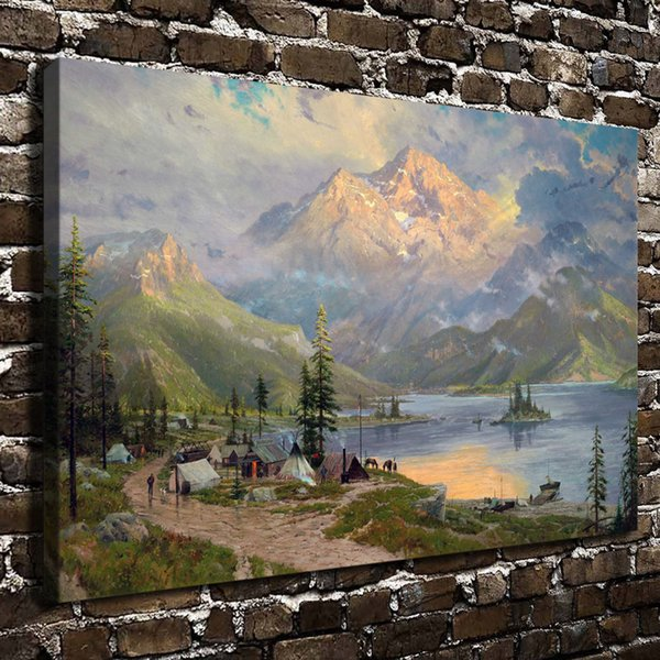 The Edge of The Wilderness,1 Pieces Canvas Prints Wall Art Oil Painting Home Decor (Unframed/Framed)