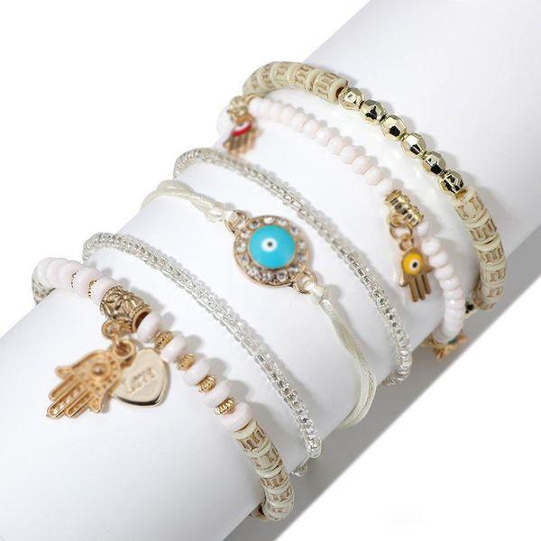 Bohemian Beaded Bracelets for Women Multilayer Stretch Stackable Bracelet Set