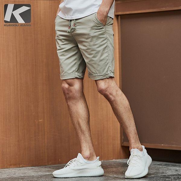 Été 2019 Hommes Casual Shorts Coton Bleu Armée Vert Couleur Pour Homme De La Mode Slim Fit Pantalon De Poche Homme Porter Pantalon Court 4516