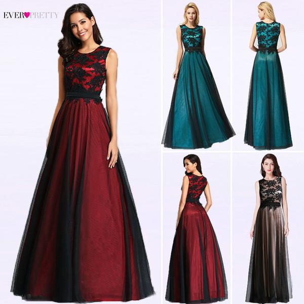 Compre Elegante Vestido De Noche De Encaje Negro Vestido De Fiesta Vestidos De Noche Largos De Tela Roja Vestido Largo Barato Festa Y19072901 A