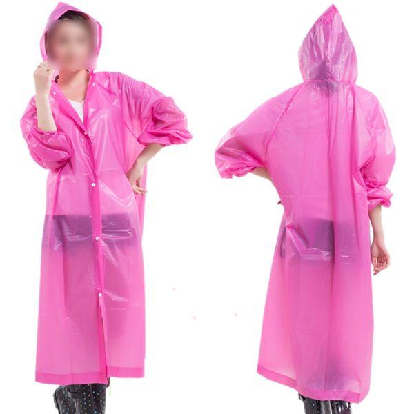Adulto portátil leve com capuz capa de chuva reutilizável rainwear # 16916