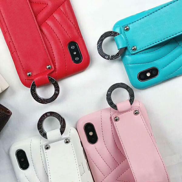 Prémio tpu phone case para iphone x xs max xr 8 8 p 7 7 p 6 6 s além de banda de Pulso Caso Dedo Strap Designer De Luxo Vogue Tendência Da Pele cobrir