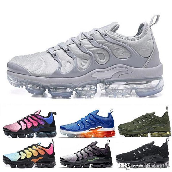 2019 TN Plus In Metallic Olive Women Men Mens Running Designer Luxury Shoes Sneakers Brand Trainers trainers shoes