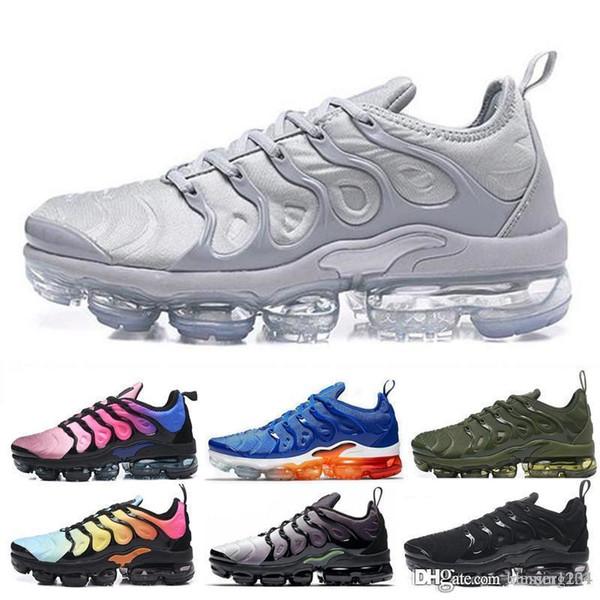 nike Vapormax Tn plus air max airmax 2019 TN Plus En Métallisé Olive Femmes Hommes Hommes Running Designer De Luxe Chaussures Sneakers Marque formateurs formateurs chaussures
