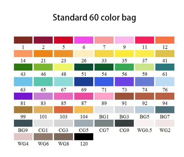표준 60 색 가방