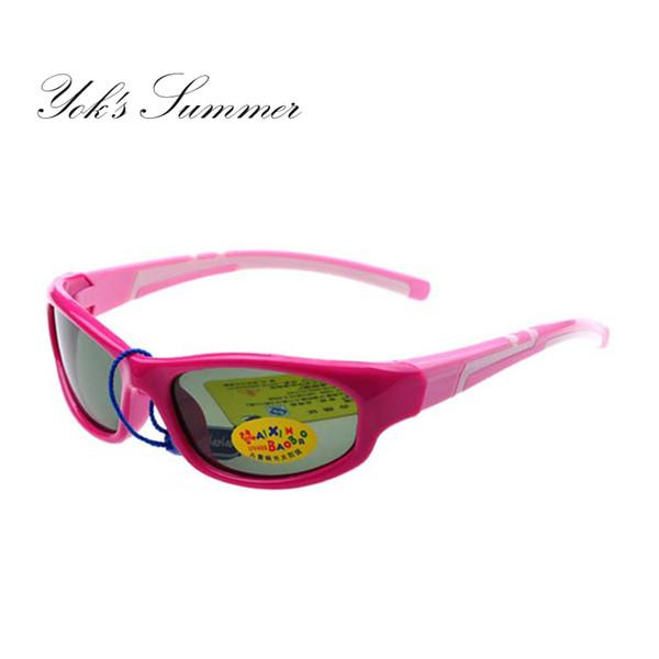 Yok da Red Cute Girls óculos polarizados Cool Kids Verde Boy Sunglasses Aviation Ampla Lens Retângulo Shades Enfant Gafas CN1422