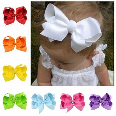 Infant Bow Headbands Girl Flower Headband Children Hair Accessories Newborn Bowknot Flower Hairbands Baby Photography Props 20colors 20pcs Y