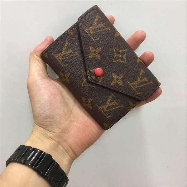 Luxus Brieftasche Designer Brieftasche Damen Designer Handtaschen Geldbörsen Clutch Geldbörsen Leder Designer Geldbörse Kartenhalter Taschen mit Box 60136 02574