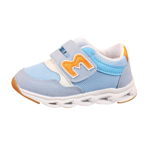 Lettres pour enfants chaussures de sport respirantes pour garçons et filles, chaussures de sport imprimées lampe à lacets émettant de la lumière à LED # YL21