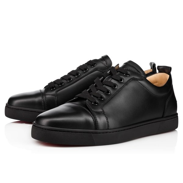 Top designer luxury red bottom shoes unisex men women red sole Fashion casual Flats Party Walking Sneakers