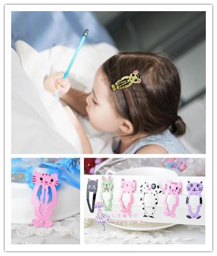 6pcs beaucoup Girl Fashion animaux Hairpin Couvre-chef barettes pour enfants Barrettes Bijoux Clips Accessoires cheveux Enfants accrochage