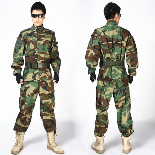 Outdoor Tactical Men Suits US Army Sniper Camouflage Clothing Suits Combat Uniform Jacket + Pants