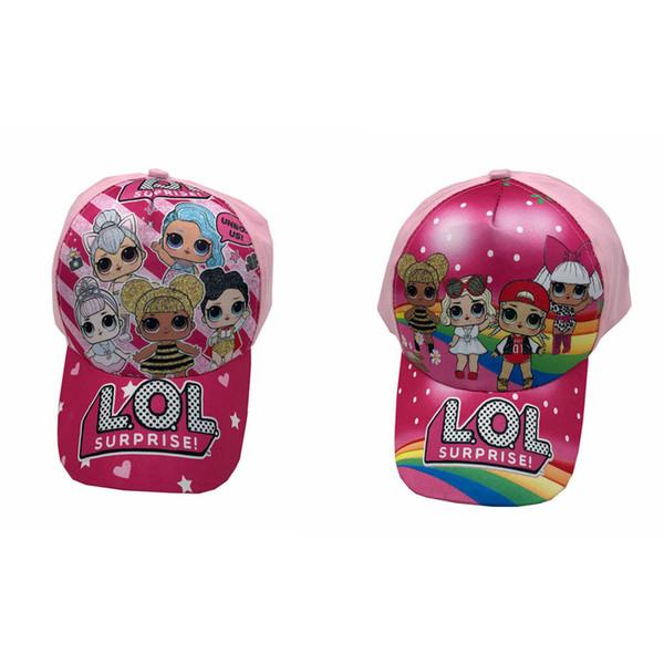 Kids Fashion Cartoon Hats Snapback Baby Baseball Caps Hip-hop Hat Girl Boy Summer Sunscreen Cap 2styles RRA1594