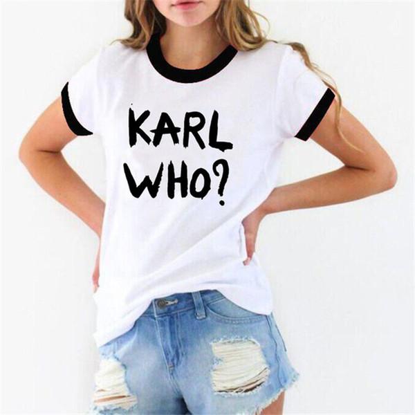 Karl Print Designer T-shirts Femmes Lagerfeld O Cou À Manches Courtes D'été Dames Tops De Mode Lâche Womens T-shirts
